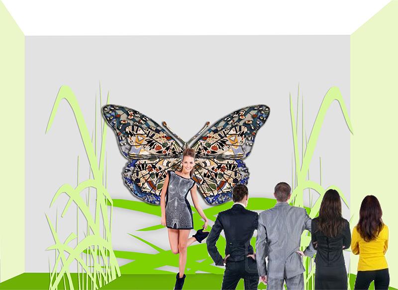 Бабочка из типсов