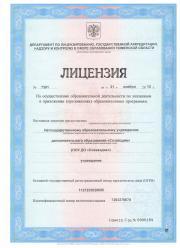 Лицензия образовательного центра Созвездие
